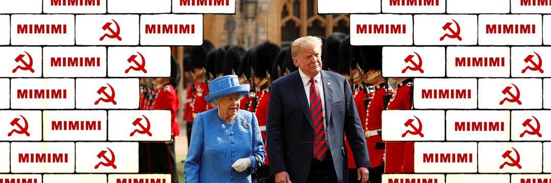 Abobrinhas mimimi contra a rainha Elizabeth II