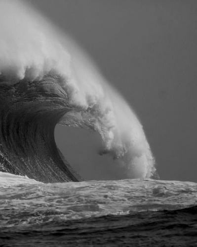 Inusitado bater das ondas